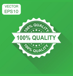 100 quality rubber stamp icon business concept vector image