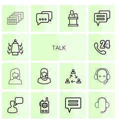 14 talk icons vector