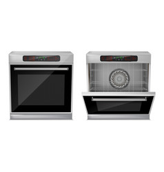 3d realistic compact built-in oven vector image