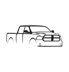 4th gen ram crew cab sport hood silhouette vector