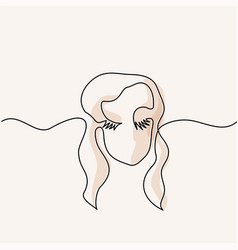 Abstract portrait of a woman logo vector