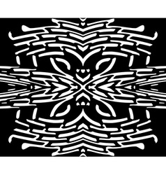 Abstract seamless black and white pattern vector image vector image