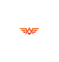 abstract wing fly emblem company logo vector image