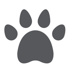 Animal footprint glyph icon pet and trace paw vector