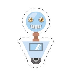 Arificial intelligence robotic smiling screen vector