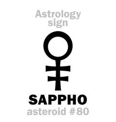 astrology asteroid sappho vector image