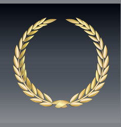 Award laurel isolated on a transparent background vector