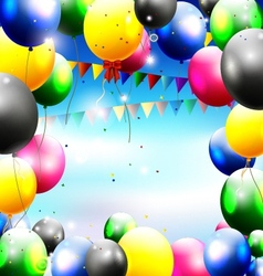 birthday background with balloon vector image