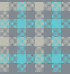 Blue gray check plaid seamless pattern vector