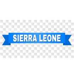 Blue stripe with sierra leone caption vector