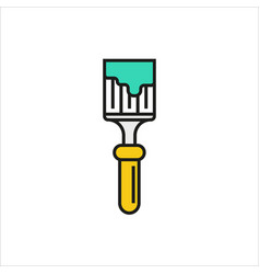 Brush icon on white background vector