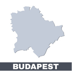 Budapest outline map map budapest city area vector