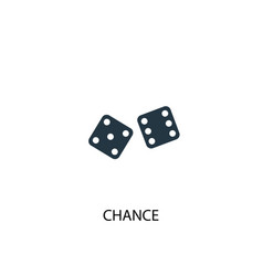 chance icon simple element chance vector image