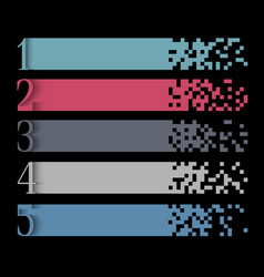 creative infographics web design template vector image