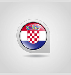 croatia flag map pointer design vector image