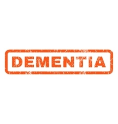 Dementia Rubber Stamp vector
