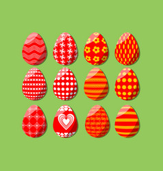 Easter egg isolated set of design elements for vector