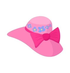 Elegant female hat icon cartoon style vector image