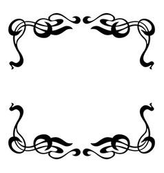 empty decorative vintage frame art nouveau style vector image
