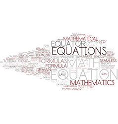 Equation word cloud concept vector