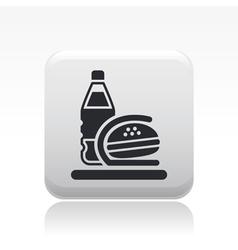 Fastfood bag icon vector