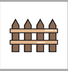 fence simple gardening icon in trendy line style vector image
