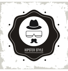 glasses mustache and hat icon Hipster Style vector image
