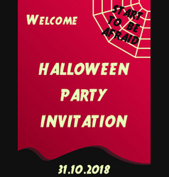 Halloween party invitation party scary vector