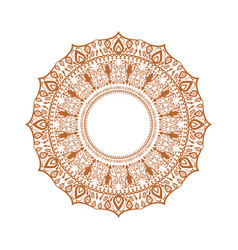 happy diwali ornament of rangoli high detailed vector image
