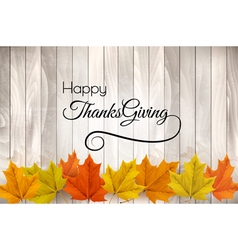 Happy thanksgiving background with colorful leaves vector