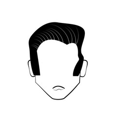 Head people faceless line vector