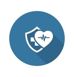 Health Insurance Icon Flat Design vector