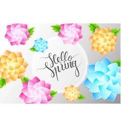 Hello spring 1 vector