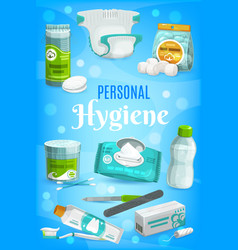 Hygiene personal care and bathing toiletries vector