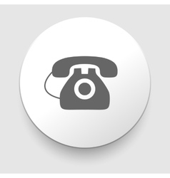 Image of a vintage telephone isolated vector image