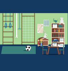 Interior children game room vector