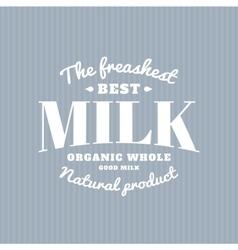 Isolated milk logo White writing Dairy vector