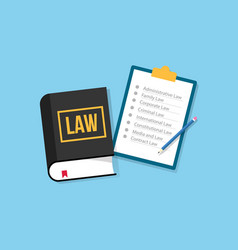 Law subject or faculty department university vector