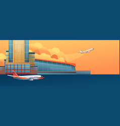 modern airport banner vector image