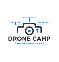 modern technology drone camera logo vector image