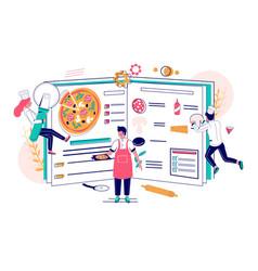 pizza recipe concept for web banner vector image