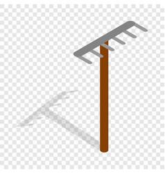 Rake isometric icon vector