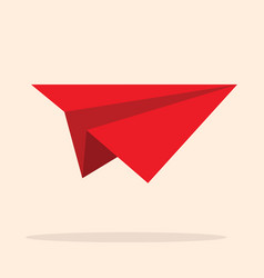 red paper plane vector image