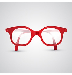 Red Retro Glasses vector image