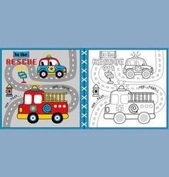 Rescue team cartoon vector
