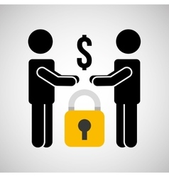 security money men silhouette vector image