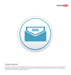 Send mail icon - white circle button vector