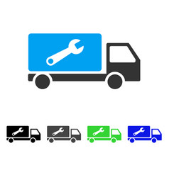 Service car flat icon vector