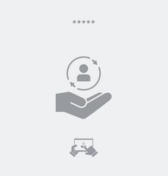 Service offer - customer care - minimal icon vector