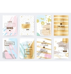 Set of cards with inspirational quotes vector image